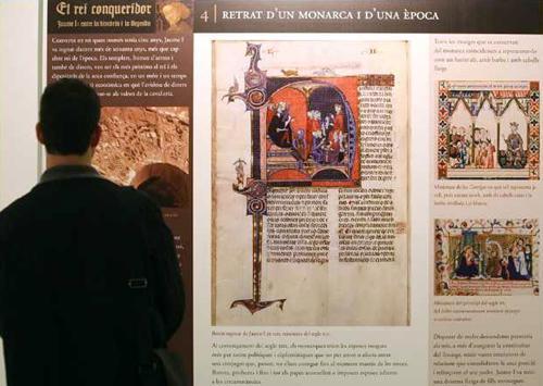 Exposición sobre Jaume I en el Club Diario Levante