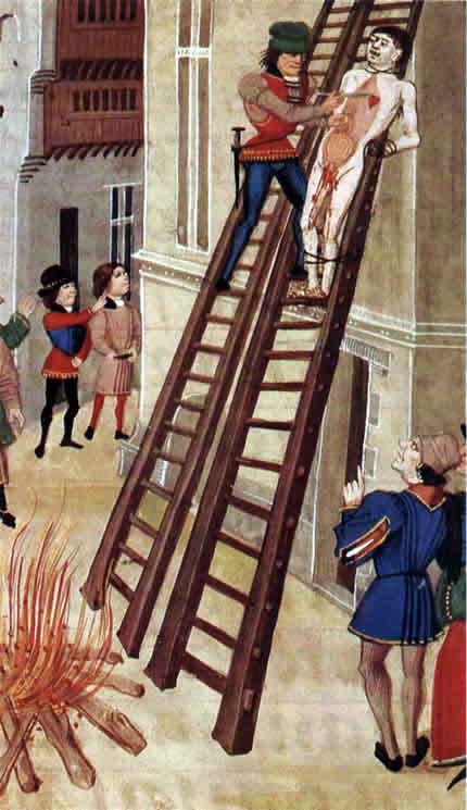 La ejecución de Hugh Despenser - Manuscrito de Froissart
