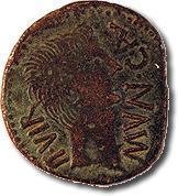 As de Calagurris. Moneda similar a la encontrada.