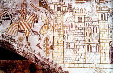 Entrada de Jaume I a Valencia. Castillo de Alcañiz