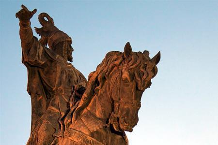 Estatua de Jaume I en el Parterre de Valencia