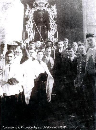 Procesión de San Antonio Abad en Trigueros (1932)