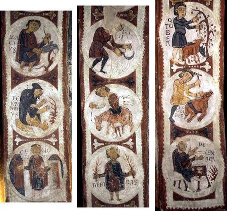 Calendario agricola del Panteón de San Isidoro de León