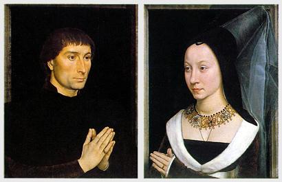 Tommaso Portinari y su mujer. Hans Memling (1470)